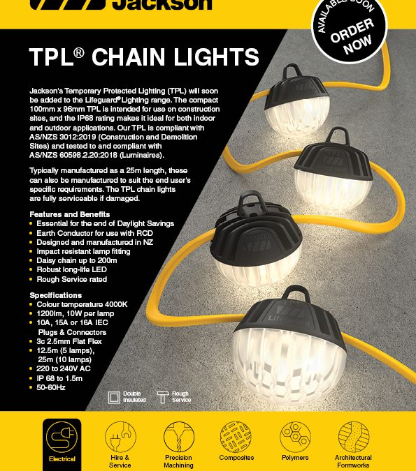 TPL®  Chain Lights – Now Available!